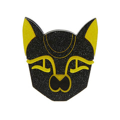 Erstwilder Cat Bastet Head Bast From the Past Brooch Pin Front