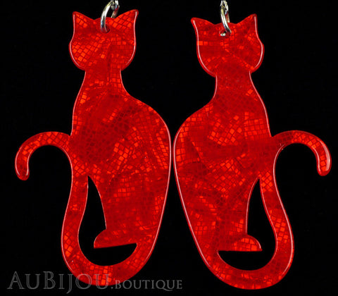 Erstwilder Cat Earrings Crimson Kitty Gallery