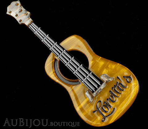 Erstwilder Celebrated Six String Guitar Brooch Pin Gallery