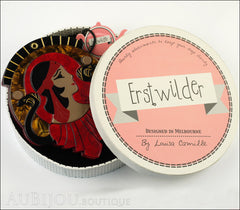 Erstwilder Cleopatra Compact Mirror Deco Egyptian Red Box