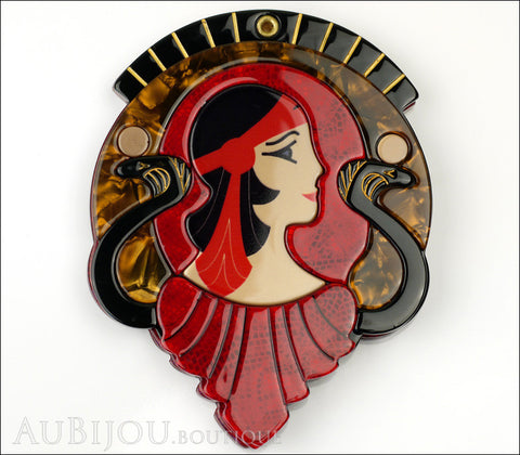 Erstwilder Cleopatra Compact Mirror Deco Egyptian Red Gallery