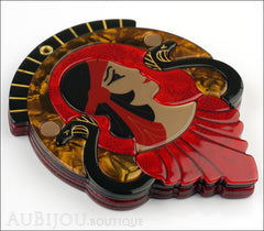 Erstwilder Cleopatra Compact Mirror Deco Egyptian Red Side