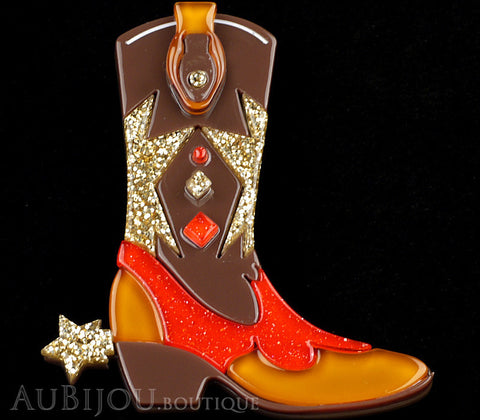 Erstwilder Cowboy Boot Scootin Brooch Pin Gallery