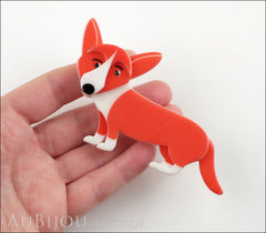 Erstwilder Dog Brooch Pin Georgie Corgi Dog Orange Model