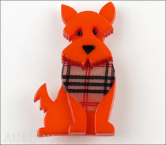 Erstwilder Dog Brooch Pin Scooter the Scottie Orange Front