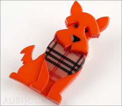 Erstwilder Dog Brooch Pin Scooter the Scottie Orange Side