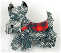 Erstwilder Dog Brooch Pin Wallace Scottie Terrier Silver Grey Front