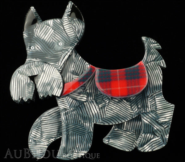 Erstwilder Dog Brooch Pin Wallace Scottie Terrier Silver Grey Gallery