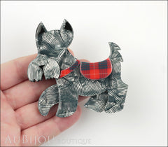 Erstwilder Dog Brooch Pin Wallace Scottie Terrier Silver Grey Model