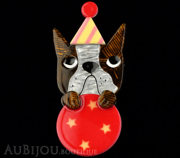 Erstwilder Dog Pin Brooch Ben The Brilliant Boston Terrier Circus Gallery