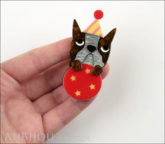 Erstwilder Dog Pin Brooch Ben The Brilliant Boston Terrier Circus Model