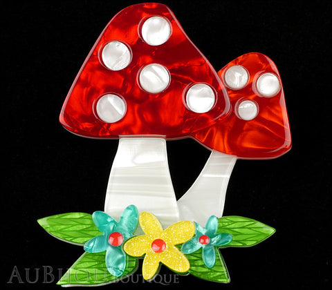 Erstwilder Forest Fun Guy Fly Amanita Mushroom Brooch Pin Gallery