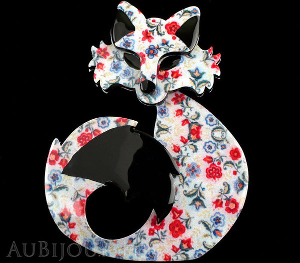 Erstwilder Fox Brooch Pin She's so Foxy Floral Print Gallery
