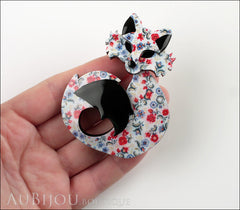 Erstwilder Fox Brooch Pin She's so Foxy Floral Print Model