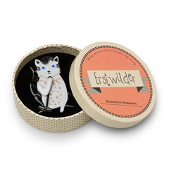 Erstwilder Hound Dog Cat Brooch Pin Box