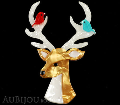 Erstwilder Kind-Hearted Keresh Deer Brooch Pin Gallery
