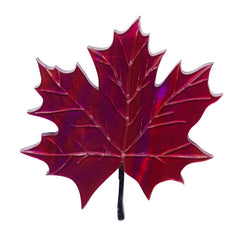 Erstwilder King Of Our Forest Maple Leaf Brooch Pin Front