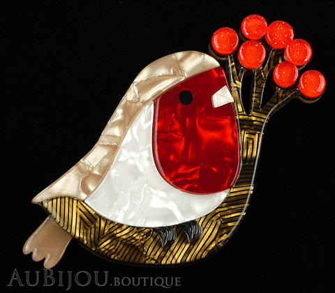 Erstwilder Little Red-Breast Robin Bird Brooch Pin Gallery