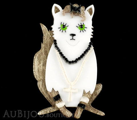 Erstwilder Madonna Papa Don't Preach Cat Brooch Pin Gallery
