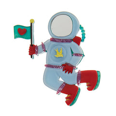 Erstwilder Major Tom Spacesuit Brooch Pin Front