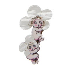 Erstwilder May Gibbs Ti-Tree Babies Brooch Pin Front