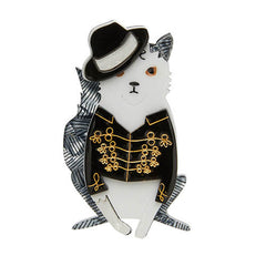 Erstwilder Michael Jackson Rock With You Cat Brooch Pin Front