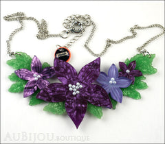 Erstwilder Necklace Gloriosa Bluebell Flower Front