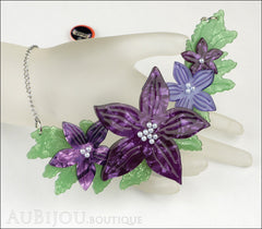 Erstwilder Necklace Gloriosa Bluebell Flower Mannequin