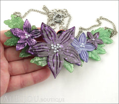 Erstwilder Necklace Gloriosa Bluebell Flower Model