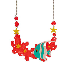 Erstwilder Necklace Oceanic Forest Pennant Coralfish Front