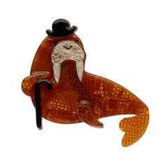 Erstwilder Old Man Walrus Brooch Pin Front