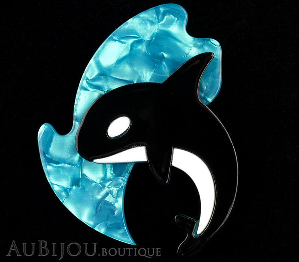 Erstwilder Olinda The Honorable Orca Whale Brooch Pin Gallery