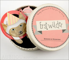 Erstwilder Pet Circus Brooch Pin Millie The Magnificent Cat Box