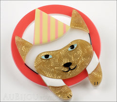 Erstwilder Pet Circus Brooch Pin Millie The Magnificent Cat Side