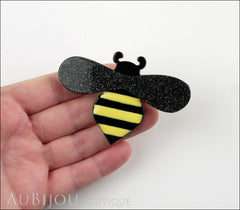 Erstwilder Pin Brooch Babette Bee Black Yellow Model