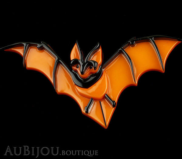 Erstwilder Pin Brooch Bill The Bashful Bat Halloween Orange Gallery