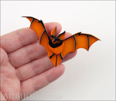 Erstwilder Pin Brooch Bill The Bashful Bat Halloween Orange Model