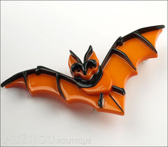 Erstwilder Pin Brooch Bill The Bashful Bat Halloween Orange Side