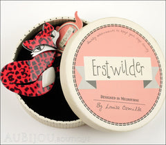 Erstwilder Pin Brooch Fletcher The Fetching Fox Red Black Box
