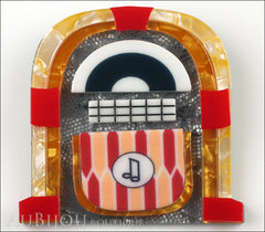 Erstwilder Pin Brooch Jess' Jivin Jukebox Front