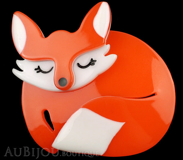 Erstwilder Brooch Pin Sacha Sleeping Fox Orange Gallery