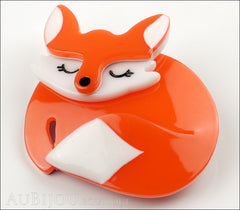 Erstwilder Brooch Pin Sacha Sleeping Fox Orange Side