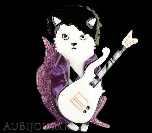 Erstwilder Prince Purple Rain Cat Brooch Pin Gallery