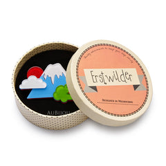 Erstwilder Snow Capped Spendour Mount Fuji Brooch Pin Box