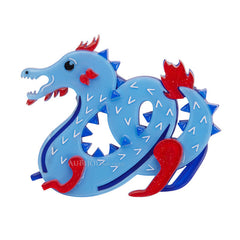 Erstwilder Tatsu The Terrifying Dragon Brooch Pin Front