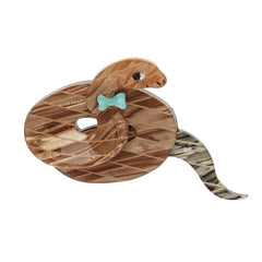 Erstwilder Theodore The Trim Taipan Snake Brooch Pin Front
