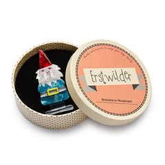 Erstwilder Theres No Place Like Gnome Brooch Pin Box