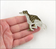 Erstwilder Whippet Hound Dog Brooch Pin Model