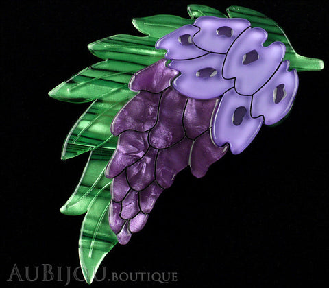 Erstwilder Wistful Wisteria Flower Brooch Pin Gallery