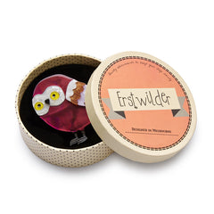 Erstwilder Young Archimedes Owl Brooch Pin Box